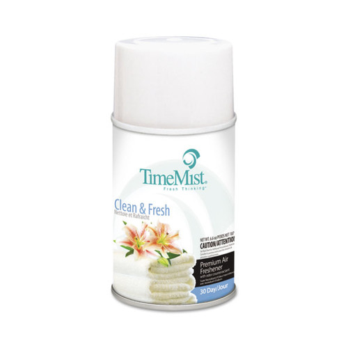 TimeMist Metered Air Freshener Dispenser Aerosol Refill, Fresh N Clean Fragrance, 6.6 oz (12 refills/case)