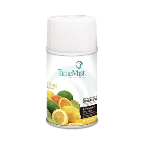 TimeMist Metered Air Freshener Dispenser Refill, Citrus, 6.6 oz (12 refills/case)