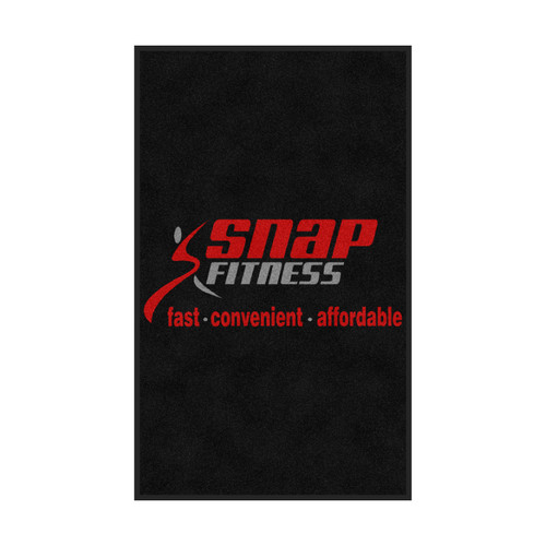 M+A Matting Snap Fitness Logo Classic Impressions, Vertical Interior Wiper Mat, 70 (70-Snap-V)