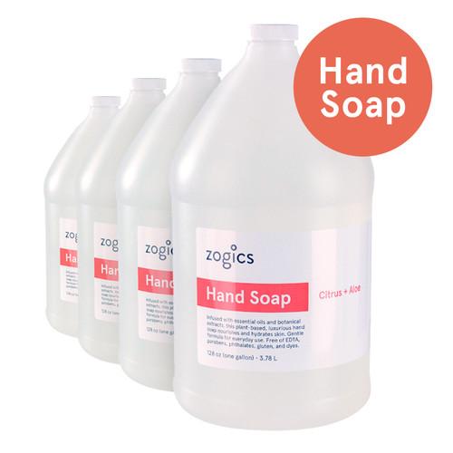 Zogics Hand Soap, Citrus + Aloe, HSCA128-4 (4 gallons/case)