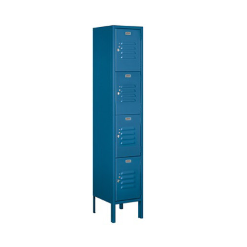 Salsbury Four Tier Standard Metal Locker Blue