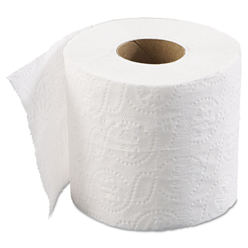 Boardwalk Bathroom Tissue, Standard, 2-Ply, White, 4 x 3 Sheet, 6145 (500 Sheets/Roll) (96 rolls/case)