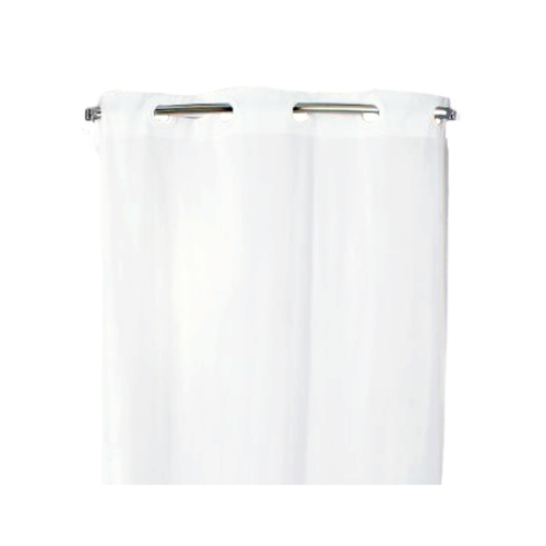 "HOOKLESS Shower Curtain, White, 71"" x 74"""