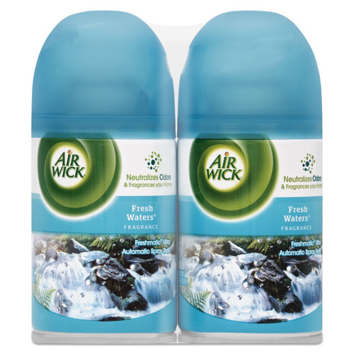 Air Wick Freshmatic Ultra Commercial Automatic Air Freshener Refill, Fresh Waters, Aerosol, 6.17 oz, 82093 (6/case)
