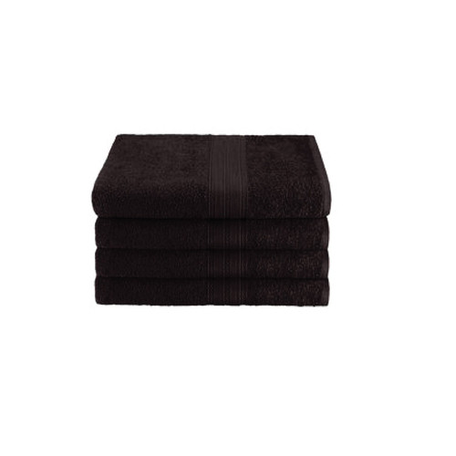 16x27 Ring Spun Hand Towel, Black, 3lb (Monarch-Hand-Black)