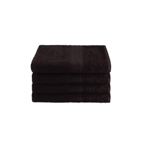 16x27 Ring Spun Hand Towel, Black, 3lb (Monarch-Hand-Black)