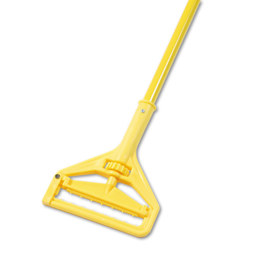 "Boardwalk Quick Change Side-Latch Plastic Mop Head Handle, 60"" Aluminum Handle, Yellow, 620 (BWK620)"