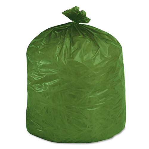 Stout EcoSafe-6400 Compostable Compost bags, 13 gallon, .85mil, 24 x 30, Green, E2430E85 (45 bags/box) (STOE2430E85)