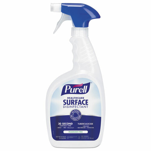 Purell Healthcare Surface Disinfectant, Fragrance Free, 32 oz Spray Bottle (3 bottles/case) (GOJ334003)