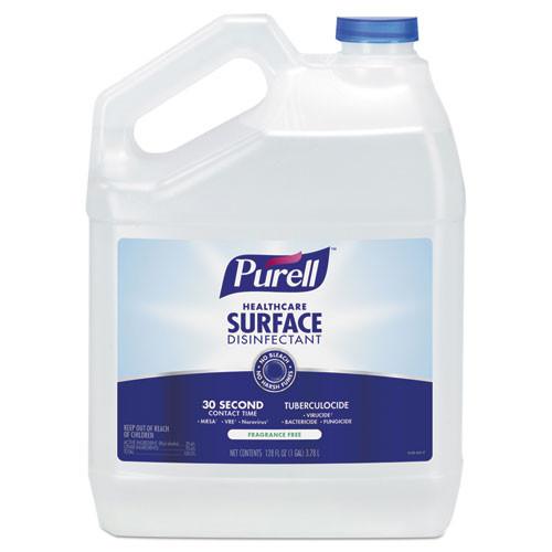 Purell Healthcare Surface Disinfectant, Fragrance Free, 1 gal Bottle (GOJ434004EA)