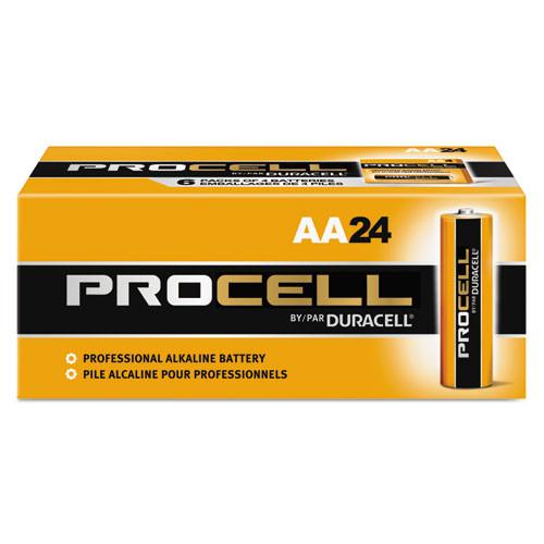 Duracell Procell Alkaline Batteries, AA, 24/Box