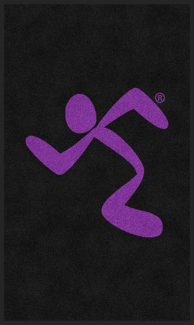 M+A Matting Anytime Fitness All Purple Running Man Logo Classic Impressions, Vertical Interior Wiper Mat