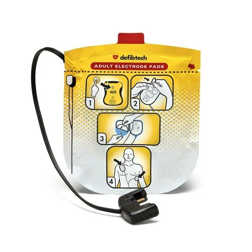 Defibtech DDU-2000 Series Defibrillation Pad Package, Adult (1 set) (DDP-2001)