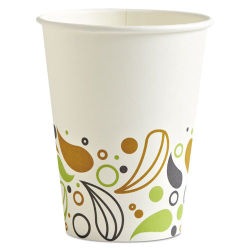 Boardwalk Deerfield Printed Paper Hot Cups, 12 oz (50 Cups/Pack) (20 Packs/Carton)