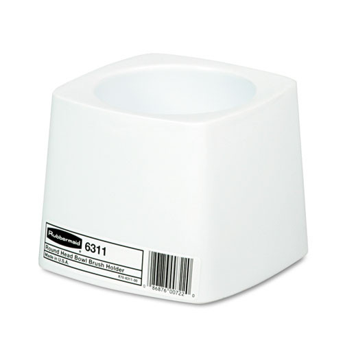 Rubbermaid Commercial Holder for Toilet Bowl Brush, White Plastic (RCP631100WE)