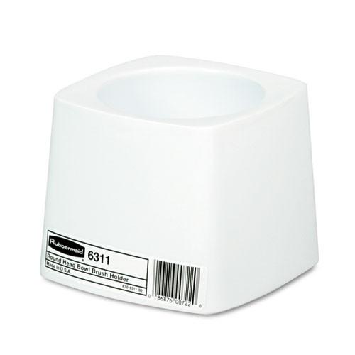 Rubbermaid Commercial Holder for Toilet Bowl Brush, White Plastic (RCP631100WE)
