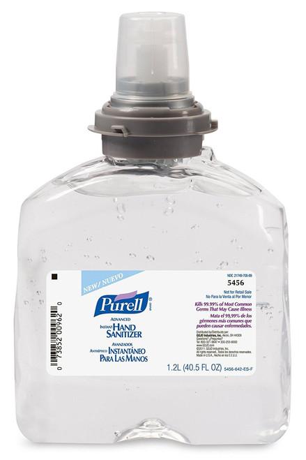 Purell TFX-12 Advanced Gel Instant Hand Sanitizer Gel, 1200mL, 5456-04 (4 refills/case)