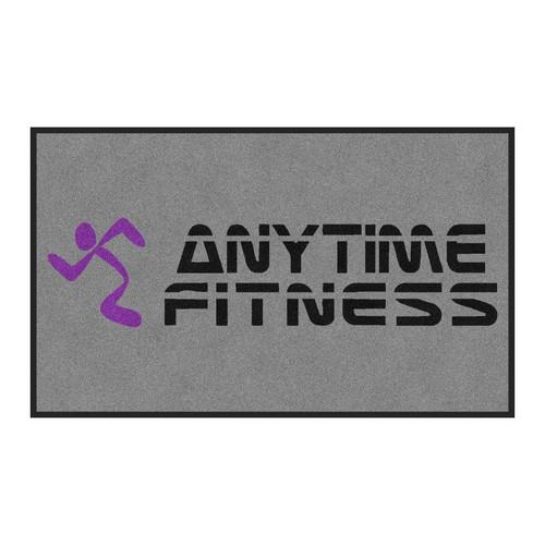 M+A Matting Anytime Fitness Logo Classic Impressions, Grey Interior Wiper Mat, 70