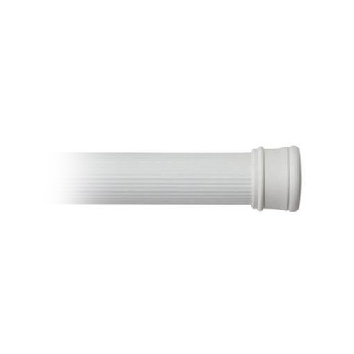 "Kenney Manufacturing Adjustable Shower Curtain Rod, White 42-72"" (KN609L/1)"