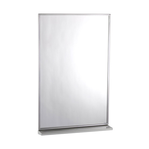 Bobrick Channel Frame Mirror with Shelf (B-166)