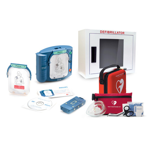 Philips HeartStart OnSite AED Defibrillator Bundle + Philips First Response Kit (M5066A-PCHAT-Bundle)