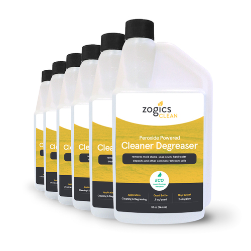 Zogics Peroxide Powered Cleaner Degreaser, 32 oz (6 units/case) (CLNCLD32CN-6)