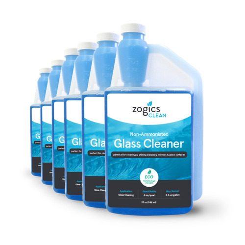 Zogics Non-Ammoniated Glass Cleaner, 32 oz (6 units/case) (CLNGLC32CN-6)