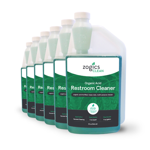 Zogics Organic Acid Restroom Cleaner, 32 oz (6 units/case) (CLNREC32CN-6)