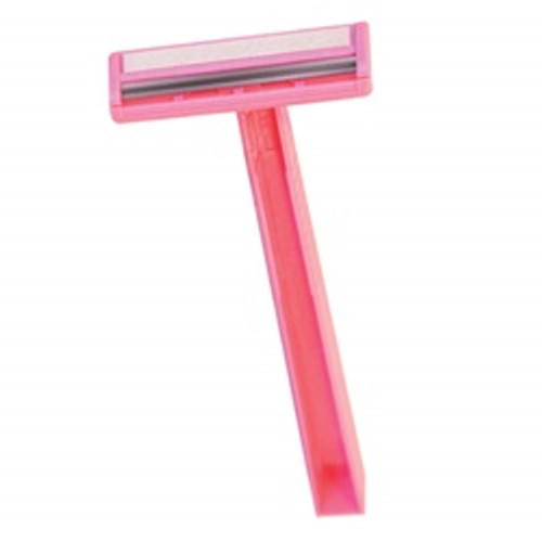 Quality Lightweight Twin Blade Razor, Pink (500 razors/case)
