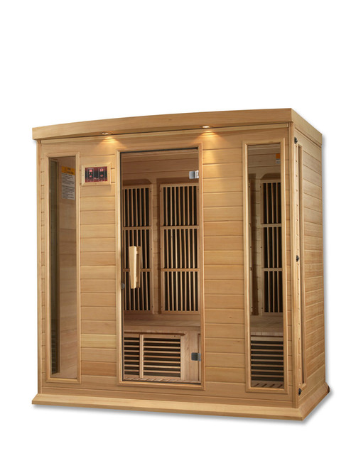 Golden Designs Maxxus Low EMF FAR Infrared Hemlock Sauna