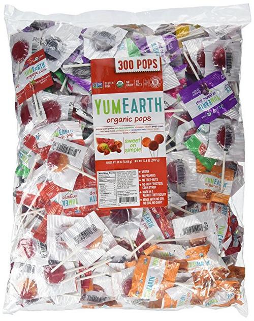YUMEARTH Organic Lolipops, 5 lbs, (300/bag)