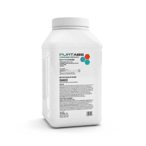 PURTABS ESPT13.1G Disinfecting Tabs (256 tablets/tub)