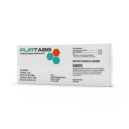 PURTABS ESPT334MG Disinfecting Tabs (100 tablets/carton)