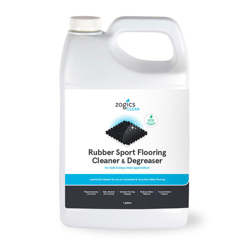 Zogics Rubber Sport Flooring Cleaner & Degreaser, 1 Gallon (CLNRFC128CN)