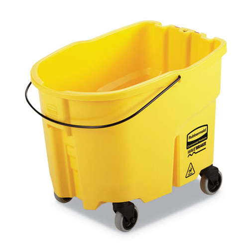 Rubbermaid Commercial WaveBrake 2.0 Bucket, 8.75 gal, Plastic, Yellow