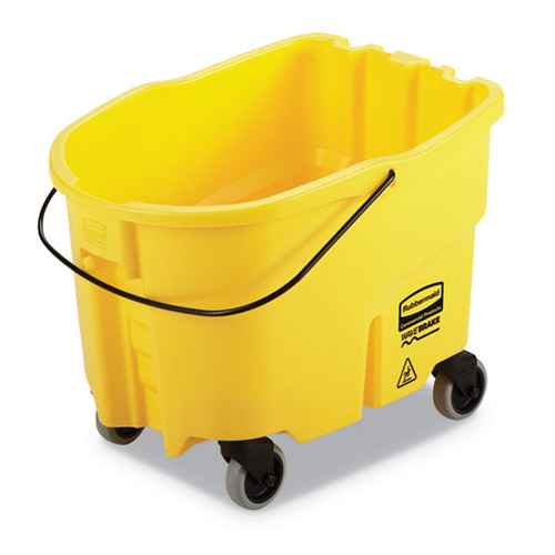 Rubbermaid Commercial WaveBrake 2.0 Bucket, 26 qt, Plastic, Yellow