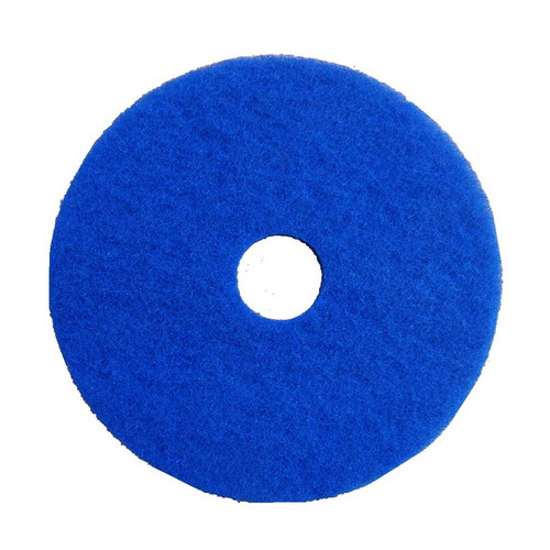 "Blue Scrubbing Pads, 13"" to 21"" Diameter, Case of 5"