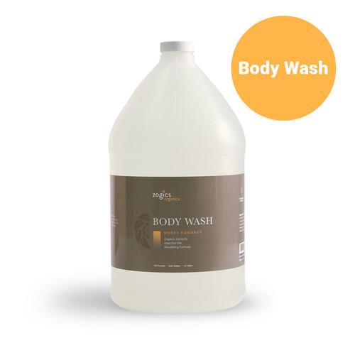 Zogics Organics Body Wash, Honey Coconut