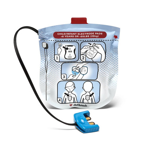 Defibtech DDU-2000 Series Defibrillation Pad Package, Pediatric (1 set)