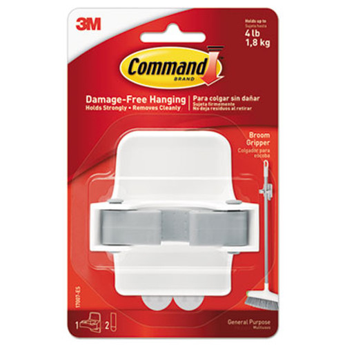 3M 17007ES Command Broom Holder Wall Mount