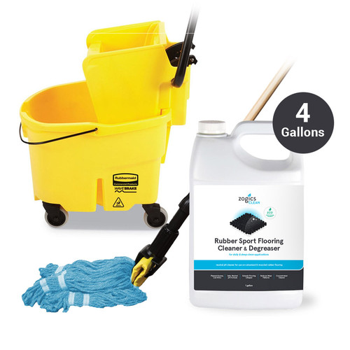 Zogics Rubber Flooring Cleaning Essentials Package