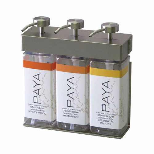 SOLera Paya Triple Soap Dispenser, 3 Chambers, Satin Silver