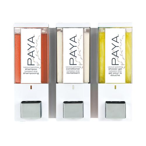 iQon Paya 3 Chamber Liquid Dispenser, 39 oz (86-Paya) White/Translucent