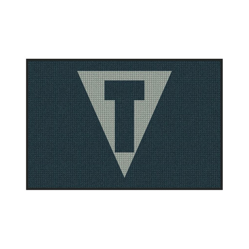 M+A Matting TITLE Boxing Waterhog Logo Inlay, Horizontal, Entrance Mat, 200 (3x5)