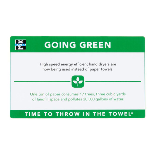 Excel Dryer 676 Wall Placard - Going Green (XL-676)