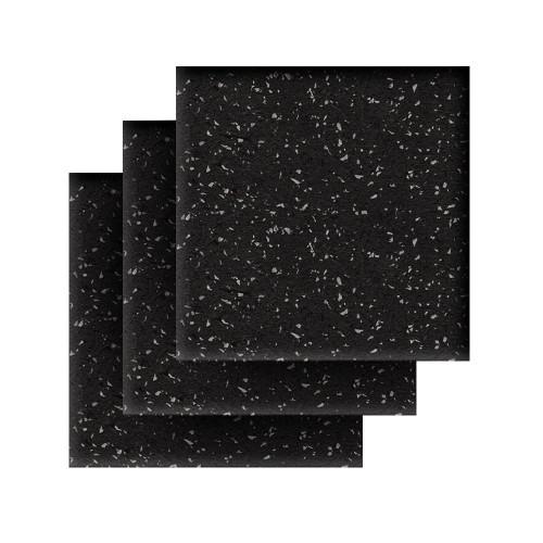 Rubber Flooring Square Tiles, Standard Mat Package, Iron