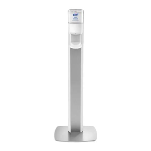 Purell Messenger ES8 Panel Floor Stand with Hand Sanitizer Dispenser, Graphite (7308-DS-SLV)