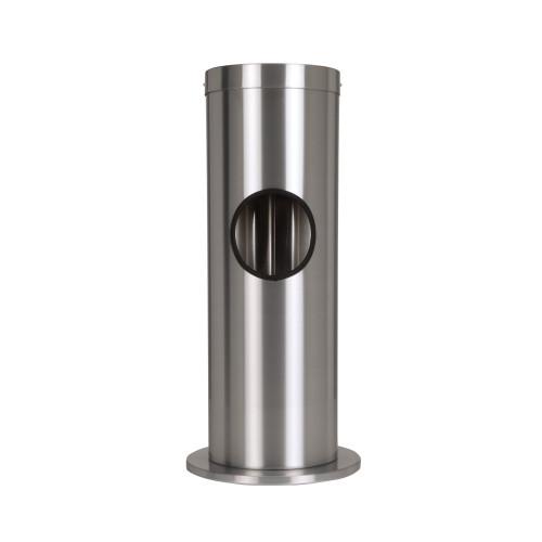 Zogics Floor Stand Gym Wipes Dispenser & Waste Receptacle, Satin Aluminum