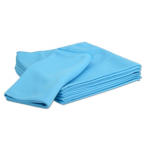 "16"" x 16"" Microfiber Glass Cleaning Cloth, 6 Pack"