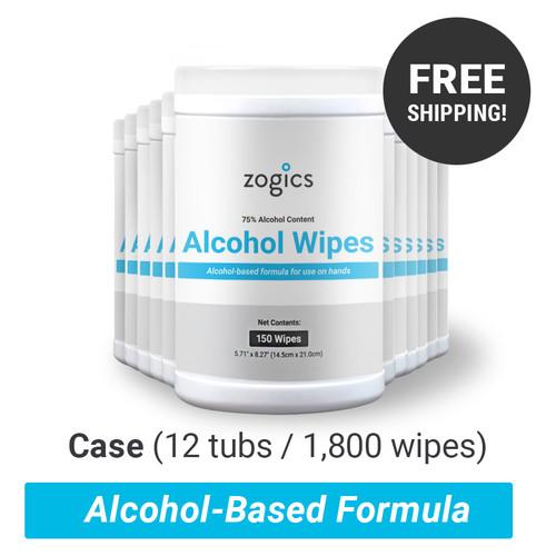 Alcohol Wipes Tub, ZALC150 (12 tubs/case)